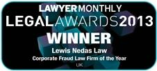 Lewis Nedas Corporate Law Firm of the Year Winner